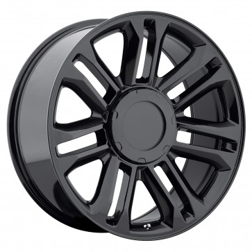 Performance Replicas Wheels - Style  132 Gloss Black Platinum Escalade Replica