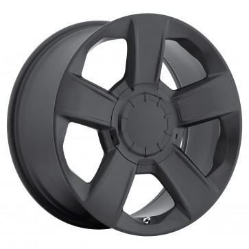 Performance Replicas Wheels - Style  152 Satin Black(Semi Gloss Black) 2014 Silverado, Tahoe, Suburban