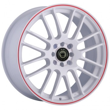KONIG TWILITE-White-Red-Stripe