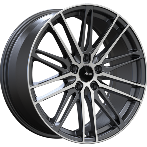 Advanti Racing Wheels DS-DIVISO-MATTE BLACK MACHINED FACE