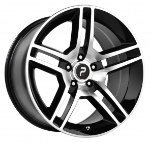 Performance Replicas Wheels - Style  101 Gloss Black/Machined Spokes and Lip Shelby GT 500 Replica