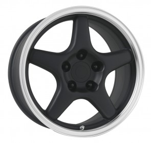 Performance Replicas Wheels - Style  103 Matte Black/Machined Lip 1984-1992 Corvette C4 +38mm for 84-87 Vettes