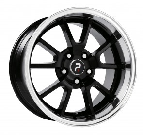Performance Replicas Wheels - Style  118 Gloss Black/Machined Lip Mustang FR 500 Replica