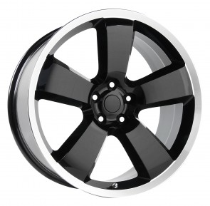 Performance Replicas Wheels - Style  119 Gloss Black/Machined Lip Dodge Charger SRT 8 Replica