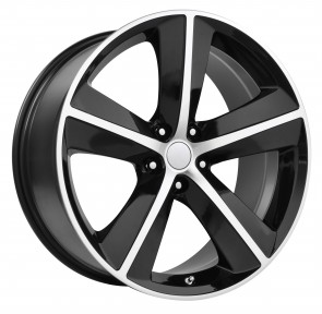 Performance Replicas Wheels - Style  123 Gloss Black/Machined Spokes and Lip 2009 Challenger SRT 8