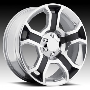 Performance Replicas Wheels - Style  127 Gloss Black/Polished Spokes & Lip 2009 Harley Davidson F150