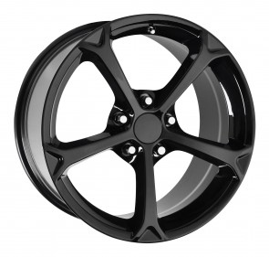 Performance Replicas Wheels - Style  130 Gloss Black 2010 Corvette Grand Sport