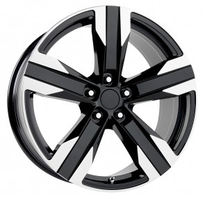 Performance Replicas Wheels - Style  135 Gloss Black/Machined Spokes & Lip 2013 ZL1 Camaro Replica