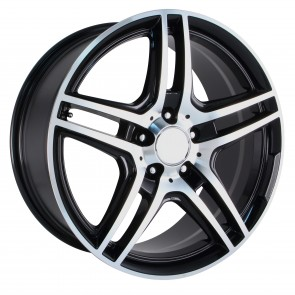 Performance Replicas Wheels - Style  136 Gloss Black/Machined Spokes/Lip AMG Replica