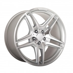 Performance Replicas Wheels - Style  136 Hyper-Silver/Machined Spokes/Lip AMG Replica