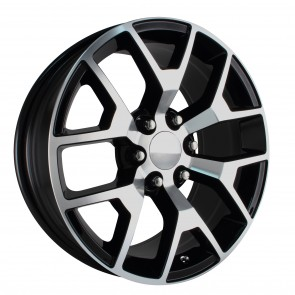 Performance Replicas Wheels - Style  150 Gloss Black/Machined Face 2014 GMC 1/2 ton