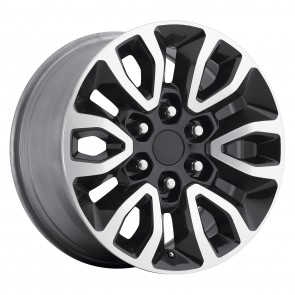 Performance Replicas Wheels - Style  151 Gloss Black/Machined Spokes-Lip